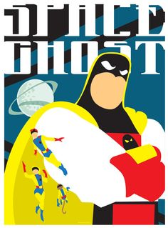 Space Ghost Poster by CuddleswithCats on DeviantArt Good Cartoons, Old School Cartoons, Animated Cartoons, Comic Book Girl, Comic Books Art, Comic Art, Hanna Barbera, Vintage Cartoon, Cartoon Tv
