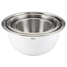 The Container Store stainless steel mixing bowl set