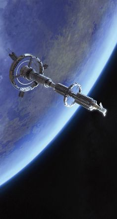 Space station concept by Roman Kovryzhenko.