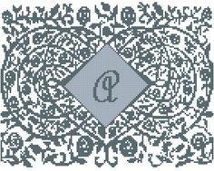 Modern Monogram/Monogram Cross Stitch by oneofakindbabydesign