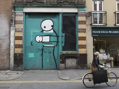"""Art Theft"" by Stik , Pitfield Street, N1. / 26 Stunning Street Art Murals You Can See In East London Right Now"