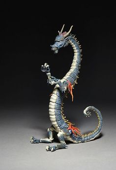 main photo of KT Project KT-004 Takeya Style Jizai Okimono Dragon Painted Edition