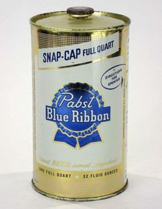 you wont drive home after adding this. Beer Can Collection, Beer History, Old Beer Cans, Pabst Blue Ribbon, More Beer, Beer Company, Beer Brands, Beer Label, Beer Lovers