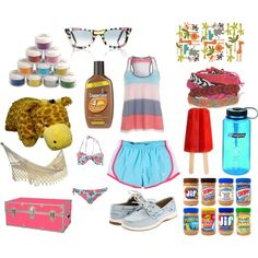 Summer and camping :(( nowwww Camp Necessities, created by allieduncan
