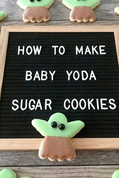 """An easy tutorial showing you how to make adorable Baby Yoda Sugar Cookies, also known as """"The Child"""" from the Disney+ show, The Mandalorian. Disneyland Crowd Calendar, Best Disneyland Food, Disneyland Secrets, Favorite Sugar Cookie Recipe, Sugar Cookies Recipe, Disney Snacks, Disney Food, Disney World Specials, Disney World Tips And Tricks"""