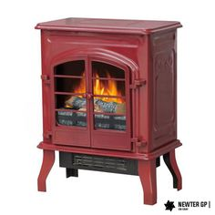 NEW Electric Fireplace Stove Heater Home RED 1500 Real