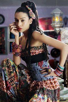 Boho gypsy spirit patwork off shoulder jumpsuit Bohemian Gypsy, Gypsy Style, Hippie Chic, Hippie Style, Bohemian Style, Boho Chic, My Style, Modern Gypsy, Lily Donaldson