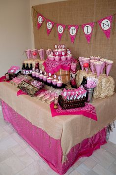 Pink cowgirl Birthday Party Ideas | Photo 4 of 18 | Catch My Party