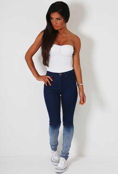 Jeanette Denim Fade Jeans | Pink Boutique
