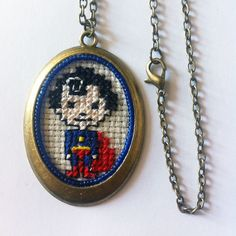 #bebysuperhero #superhero #crossstitch #jewelcreator #jewerly #jewels #handcraft #handmade #cross #creator #necklace