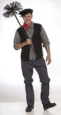 Chimney Sweep Mens Adult Costume Standard Mary Poppins Victorian Character New 37