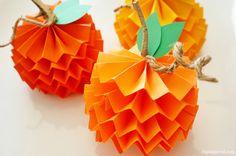 Paper Pumpkins How To