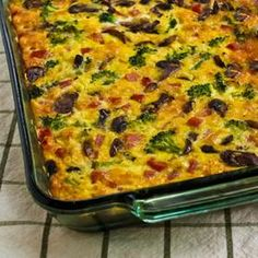 Mmm high protein egg bake. I would replace the ham with a leaner meat like turkey and try to cut out some of the sodium