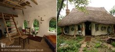 This cob cottage in Deddington, England cost almost nothing to build. It was built by Michael Buck almost exclusively from materials from his farm. Cob Building, Building A House, Earth Bag Homes, Natural Homes, Natural Building, Small Buildings, Earthship, Little Houses, Small Houses