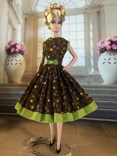 Handmade, OOAK Dress For Silkstone Barbie By GINA **AUTUMN SPICE** | eBay