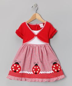 Take a look at this Red Ladybug Layered Dress - Infant, Toddler & Girls by Youngland on #zulily today!