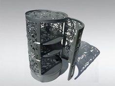 Metal barrels are great material for recycling and outdoor furniture design Barrel Furniture, Metal Furniture, Industrial Furniture, Furniture Ads, Street Furniture, Furniture Storage, Oil Barrel, Metal Barrel, Barrel Bbq
