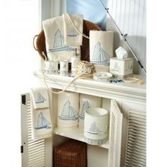beach decor sailboat bath accessories