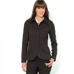 """Tweed """"officer coat"""" style jacket by LaRedoute (The steampunk in me craves this jacket!)"""