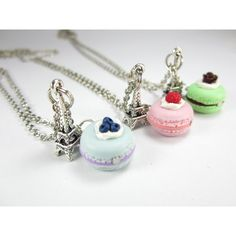 BFF Paris Macaron Necklace Friendship Necklace (3pcs) food. Rachel,Peyton I call the green or blue one