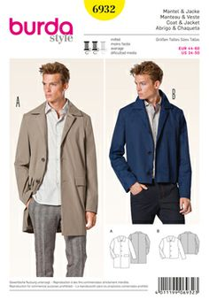 Simplicity Creative Group - Burda Style Menswear - for neal (with a belt)