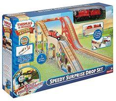 FisherPrice Thomas the Train Wooden Railway Speedy Surprise Drop Set ** ** AMAZON BEST BUY **