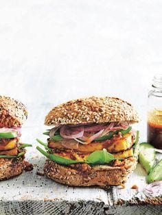 Chilli Peanut Tofu Burger | Donna Hay