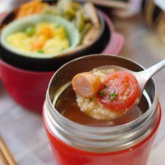 ねぼすけのトマトスープリゾット弁当 Healthy Cooking, Cooking Recipes, Healthy Recipes, Vegetarian Recipes, Healthy Food, Macaroni Recipes, Thai Street Food, India Food, Meals In A Jar