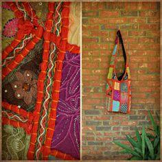 Handmade Crossbody Bag from India (Red #4)