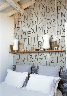 Quarta de quartos: paredes criativas >>> www.decoracaoblog.com.br