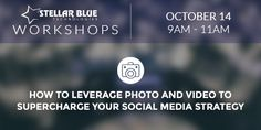 The use of photo and especially video in marketing today has become widespread and profoundly effective. Additionally, nearly two thirds of Americans own a smartphone, which means most of us carry an HD camera with us every day.  https://stellarbluetechnologies.com/event/how-to-leverage-photo-and-video-to-supercharge-your-social-media-strategy/
