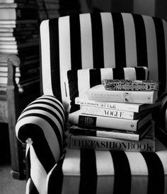 Black & white striped chair - classy!