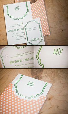 Minimalistic Letterpress Wedding Invitations by Smock