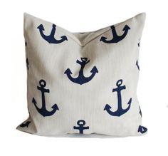 Outdoor pillow, 18x18, Outdoor throw pillows, Outdoor pillow cover, Nautical pillow, Beach house pillow, Boat pillows, Outdoor toss pillows