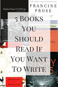 5 Books You Should Read If You Want To Write - Erin's Inside Job - Looking for ways to improve your writing? Here is a list of the top 5 books you should read if you want to write! Creative Writing Tips, Book Writing Tips, Writing Resources, Writing Help, Writing Prompts, Writing Circle, Improve Writing Skills, Writing Fonts, Reading Tips