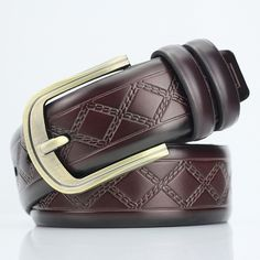 8.35$  Buy now - http://dif4r.justgood.pw/go.php?t=202008003 - Rhombus Plaid Embossed PU Wide Belt