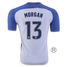 2016 17 USA Home Alex Morgan Replica Men s Soccer Jersey ( 13) Alex e8d364981