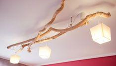 Cómo hacer una lámpara de techo con ramas secas