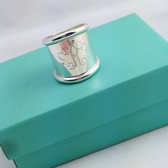 For the top of your #WishList, meet #SwellCaroline's Monogrammed Cigar Band Ring! {Sterling Silver} #Monograms