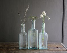 vintage glass bottles | fragment from Indie Rainbow... treasury on Etsy.com by Redor Gray ...