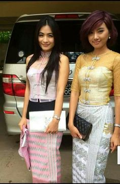 How beautiful our MYANMAR girls with traditional dresses