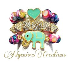 N'Genious Creations Exclusive Colorful Bracelet Set by NGeniousCreations, $30.00