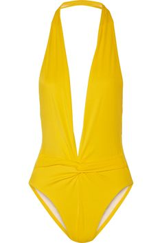 Norma Kamali Twister plunge swimsuit NET-A-PORTER.COM