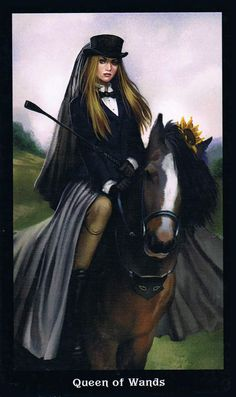 The Queen of Wands - Steampunk Tarot