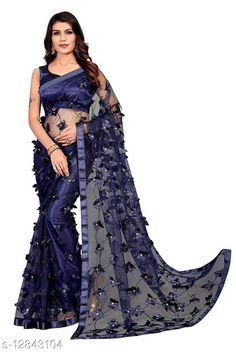 Sarees ButterFly Saree For Woman Saree Fabric: Net Blouse: Running Blouse Blouse Fabric: Art Silk Pattern: Self-Design Blouse Pattern: Solid Multipack: Single Sizes:  Free Size (Saree Length Size: 5.5 m, Blouse Length Size: 0.8 m)  Country of Origin: India Sizes Available: Free Size   Catalog Rating: ★4 (490)  Catalog Name: Adrika Alluring Sarees CatalogID_2493885 C74-SC1004 Code: 884-12843104-8121