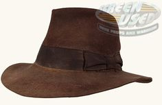 IndyGear.com: Fedora Indiana Jones Fedora, Western Cowboy Hats, Fedoras, Harrison Ford, Real Men, Bustle, Hats For Men, Raiders, Men's Clothing