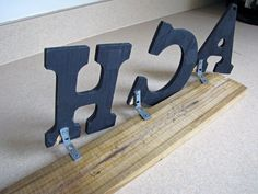 How to decorate awkward space above Kitchen cabinets with wood block letters