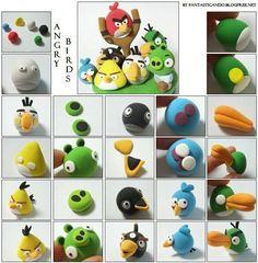 como hacer figuras de plastilina de angry birds - Buscar con Google