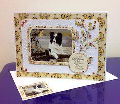 A Collie Christmas, Pollyanna Pickering Christmas Makes, Christmas Dog, Animal Cards, Collie, Card Ideas, Birthday Cards, Birthdays, Card Making, Crafting