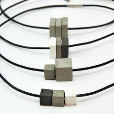 Konkrete Halskette Beton-Schmuck Moderner Schmuck